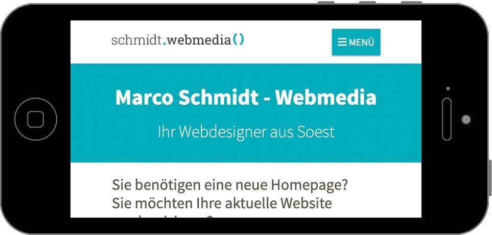 Screenshot - Homepage - Smartphone Landscape